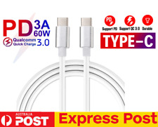 USB Type C to USB-C Cable 1M QC3.0 60W 3A PD Quick Charge Cable Fast Charging