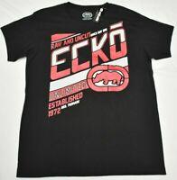 Ecko Unltd T-Shirt Men Sz XL Rhino Logo Graphic Tee Black Urban Streetwear P845