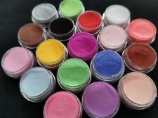 18 colores/Set Acrílico UV Gel Brillo Polvo Polvo Set para Uñas de Arte para Decoración de Reino Unido