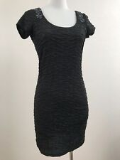Free People, Little Black Dress, Lined Fitted Sparkle Beaded Backless EUC, XS-TP