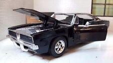 Modellini statici di auto, furgoni e camion neri per Dodge Scala 1:24