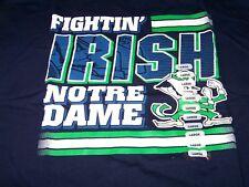 NWT Notre Dame Fighting Irish s/s Graphic Tee Shirt Men's Medium ~ Navy Blue ~