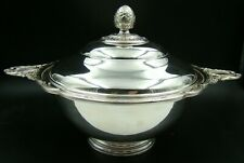 French Christofle Silver Plated Large Soup Tureen Louis XVI Pristine Conditions
