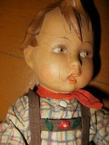 12-in German Hummel boy doll, vintage 1959, rubber, AS IS, read description!