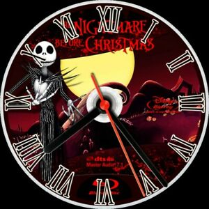 CD wall clock Disney nightmare before Christmas personalized customized