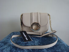 KARL LAGERFELD PARIS Leather Crossbody Bag -Sand- NWT!!!MSRP$148