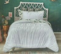 Opalhouse Target WHITE Ruched Jersey Duvet Set Twin/Twin XL New In Package