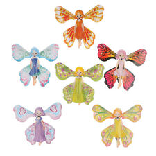 2x Kids Magic Butterfly Flying Paper Card Toy Magic Fairy Magic Props ToyR_y BOD