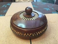 Porcupine Quill Box with Lid Vintage