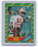 1986 TOPPS JERRY RICE #161 49ERS !! ROOKIE CARD  !!