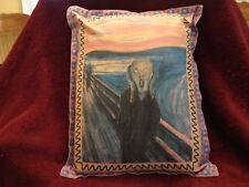 """Edvard Munch """"The Scream """" Cushion Pillow Cover Decor Horror Print  16"""" x 12"""""""