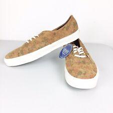 Vans Authentic Mens Size 11.5 New Floral Suede Leather Decon CA Skate Shoes