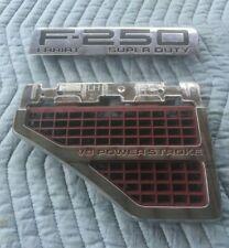 08 09 10 Ford F-250 Super Duty F250 XL Left Driver Side Fender Emblem Grille