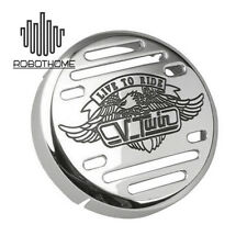 Chrome Round V-Twin Horn Cover for Yamaha V-Star 650 1100 Classic Custom New