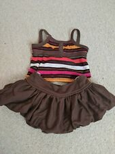 Build a Bear brown skirt and strappy top