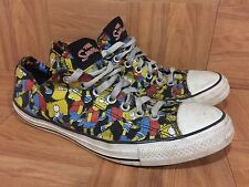 Worn🔥 Converse x The Simpsons Bart Simpson Chuck Taylor Low OX Sz 10 Faces Pose