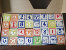Uncle Goose Toddler ABC Wood Blocks Embossed AlphabetNumbers Animals In French