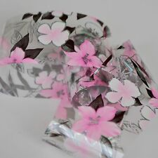 Shy Pink L Size Lily Flower Nail Transfer Foil Tips Sticker Perfect Toe G117