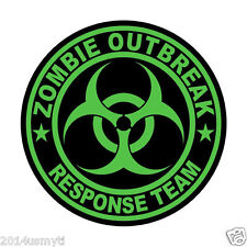 ZOMBIE OUTBREAK RESPONSE TEAM STICKER GREEN
