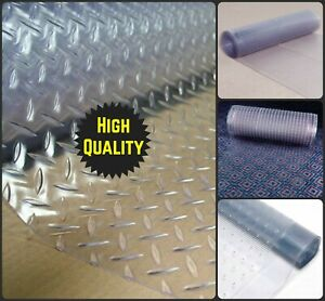 Heavy Duty Vinyl Plastic Clear Carpet Floor Mat Protector Home Runner Roll Sheet