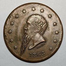 1863 Civil War New York Gustavus Token 172390p
