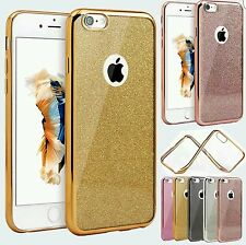 NEW Bling Glitter Sparkly Soft Gel Phone Cover Case For iPhone 5s 6s 7 Plus UK