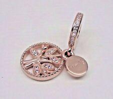 Genuine Rose Gold PANDORA Family Heritage Dangle CZ Charm 781728CZ ALER
