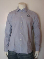 NEW ZEALAND AUCKLAND BASIC SHIRT L/S [SIZE L ] MEN'S LONGSLEEVE SHIRT BLUE