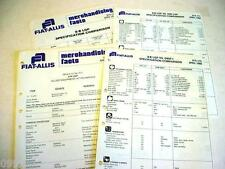 Fiat-Allis 8-B Crawler Dozer Merchandising from Dealer Sales Manual 8 Pages