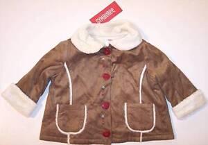 NWT Gymboree Faux Suede Shearling Jacket Coat, Mountain Cabin, 6-12M, $39.50