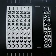 55 56 57 Chevy Odometer Number Decals BLACK Numbers 1955 1956 1957 Chevrolet