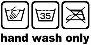 Hand Wash Only Aufkleber Sticker, Tuning, OEM, JDM, DUB, Kult, in 20X10cm !