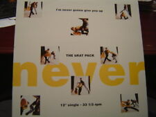 "THE BRAT PACK I'M NEVER GONNA GIVE YOU UP 12"" 1990 A&M"