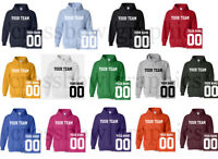 CUSTOM Hooded Sweatshirt Personalized ANY COLOR Name Number Team HOODIE Football