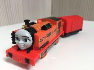 Thomas The Tank Engine Motorized Nia Train With Carriage Trackmaster.