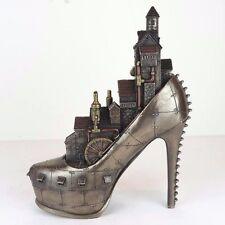 "Steampunk Stiletto Hill Ironopolis Shoe City Bronze Figurine Miniature 10""H New"