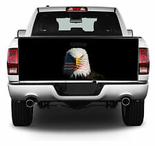 Bald Eagle with Flag Truck Tailgate Wrap Vinyl Graphic Decal Sticker Wrap #205