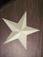 "12"" Almond  Barn Star Metal Primitive"