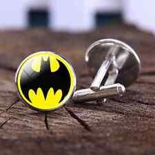 1 pair Batman Cufflinks Mens Accessory Glass Cufflinks Picture jewelry