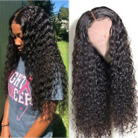 Lace Front Human Hair Wigs Water Wave Virgin Pre Plucked  with Baby Hair 150% US