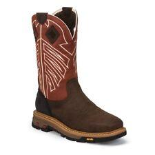Justin Men's Roughneck Chestnut Waterproof Steel Toe Work Boots WK2115