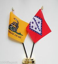 Gadsden & Arkansas Double Friendship Table Flag Set