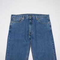 LEVI STRAUSS 505 Regular Fit Straight Leg Jeans MedWash Denim Mens 40x32