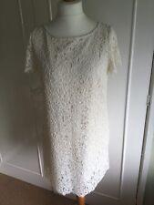 BNWT Zara Woman cream lace shift dress L Large SS 2016