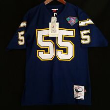 100% Authentic Junior Seau 1994 San Diego Chargers Mitchell Ness NFL Jersey 44 L
