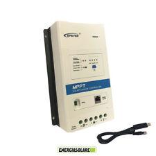Regolatore di carica MPPT TRIRON 40A 12V 24V per litio DISPLAY RCS cavo USB