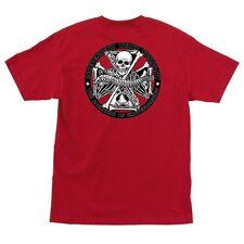 Independent Trucks Backbone Skateboard T Shirt Red Medium