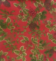 "Ralph Lauren Birchmont Christmas Red 70"" Round~60x84"" Tablecloth~Runner 15x72"""