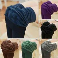 Women Winter Thick Warm Pants Fleece Lined Thermal Stretchy Slim Skinny Leggings