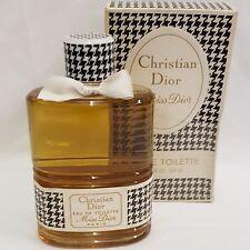 Vintage enorme 224cc 7 9/16 Fl Oz Miss Dior Eau De Toilette Perfume Raro